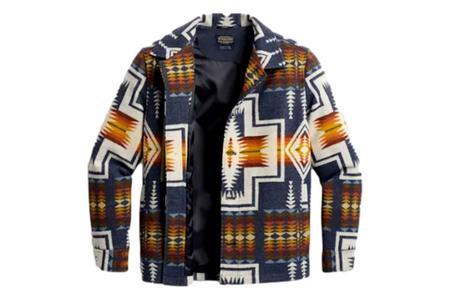 Pendleton Harding Button Front Wool Coat - Navy