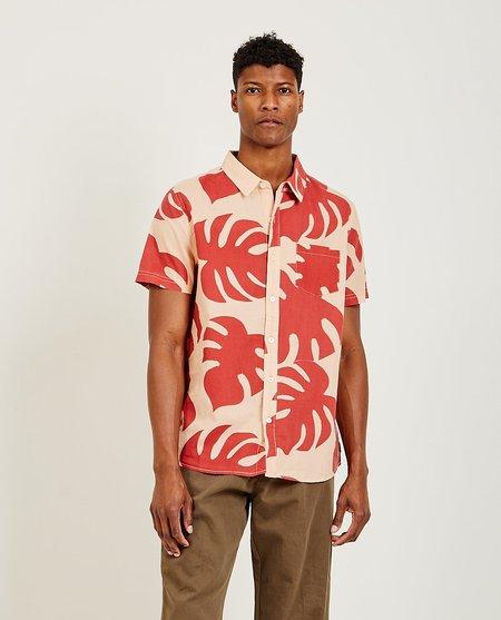 banks Fronds S/S Shirt - PEACH