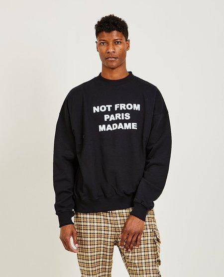 Drôle de Monsieur Le Slogan Sweatshirt - Black
