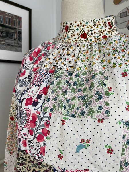 [Pre-Loved] Hunter Bell Sienna Spliced Floral Blouse - tan