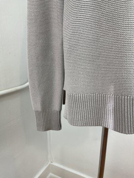 [Pre-Loved] Kinross Grey Cotton Mock Sweater - Grey