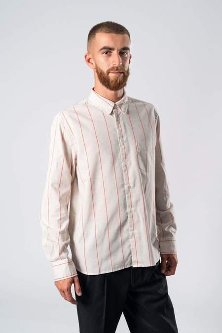 La Paz Lopes Shirt - Orange/Fluor Stripe