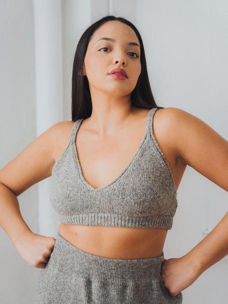 Cordera soft wool bra top - grey