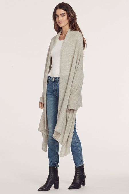 The Wrap Scarf in Light Heather Grey
