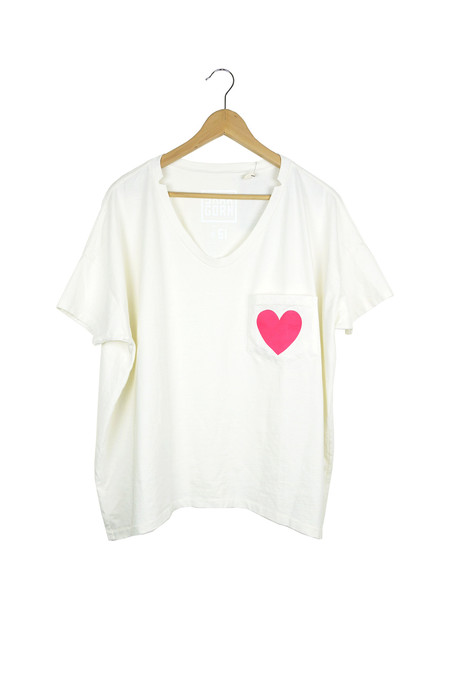 Sunchild x Skargorn #61 Heart Tee, Milk Wash