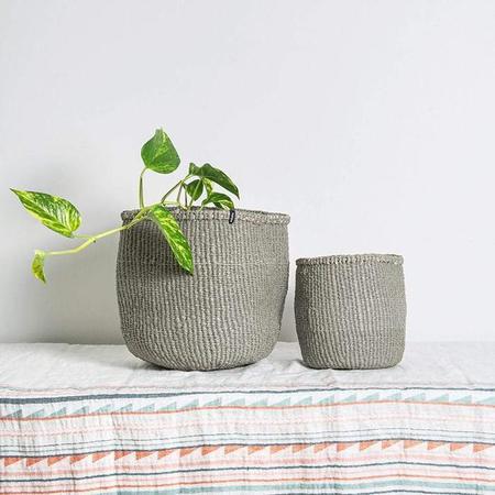 Mifuko Kiondo Small Basket - Warm Grey