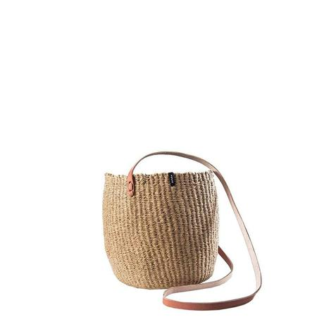Mifuko Kiondo Small Hanging Basket - Brown