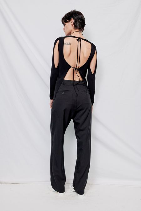 Index Series Minato Backless Long Sleeve Top