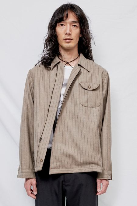 And Austin Wool Zip Overshirt - Oatmeal