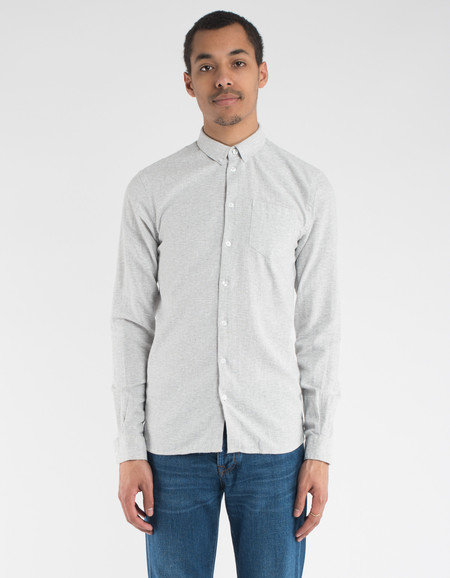 Minimum Pelham Shirt Light Grey Melange