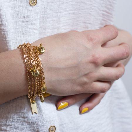Marijke Bouchier 'Brass Teardrops Bracelet'