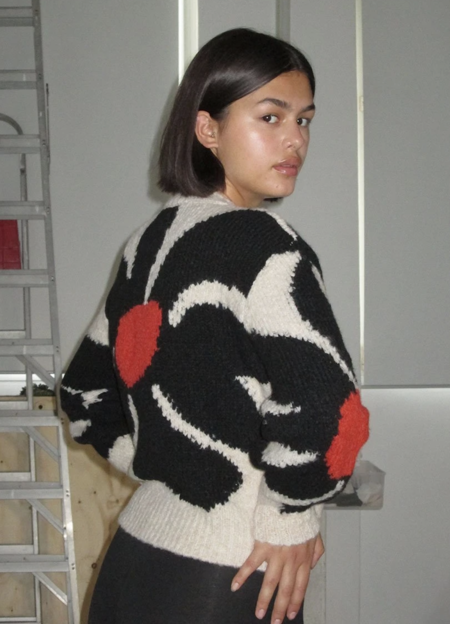 Paloma Wool Hana Sweater - Ecru/Brown