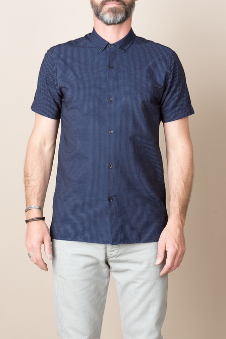 Homecore Polsky Shirt In Blue Dots