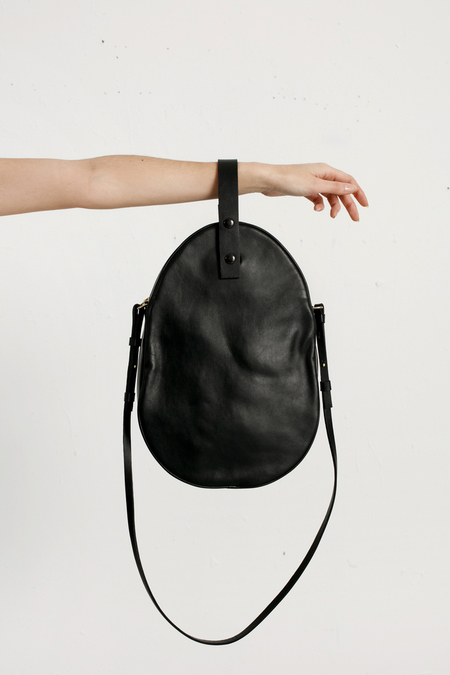 Modern Weaving - Oval Crossbody - Black