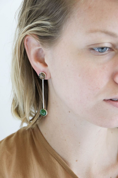 Faris Sway Earrings in Jasper + Jade