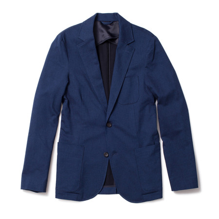 Corridor Indigo Cotton Stretch Blazer