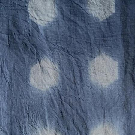 Auntie Oti Hexagonal Scarf - Blue