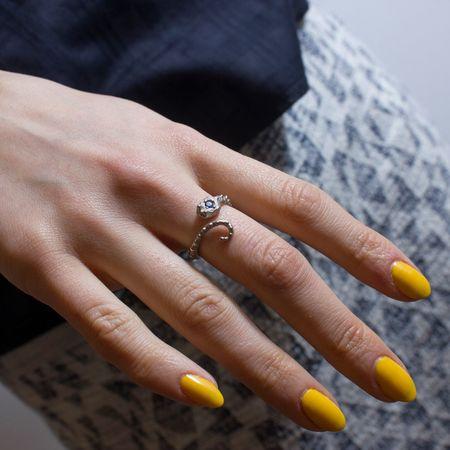 Sarah De Gasperis 'Snake ring with blue sapphire'