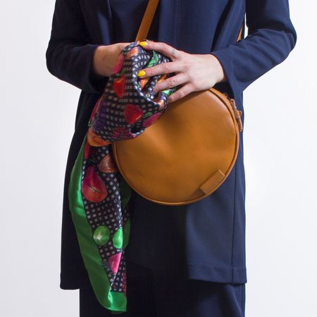 Woolfell 'Orbit' purse  - orange