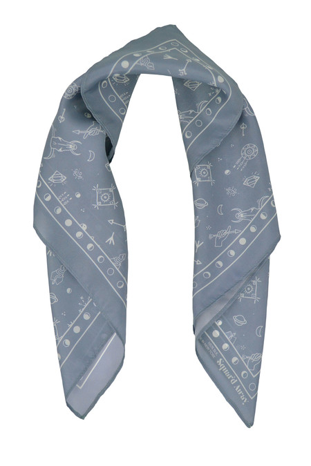 Squar'd Away The Amulet Scarf - slate
