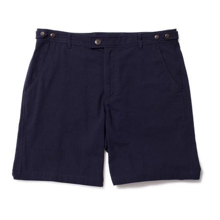 Corridor Seersucker Shorts - Navy