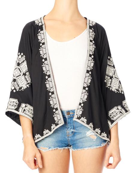 Star Mela Felka Embroidered Kimono Jacket