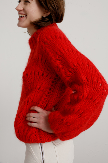 Ganni - Julliard Sweater - Red