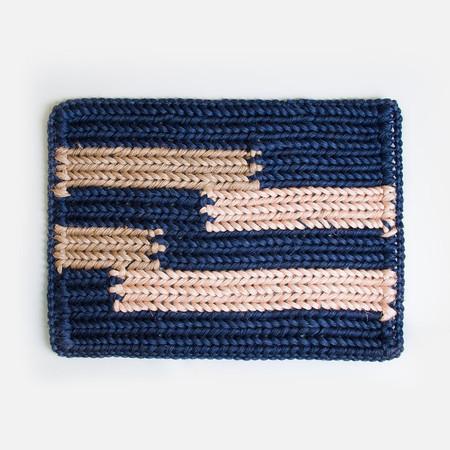 Someware Braided Doormat - Blue