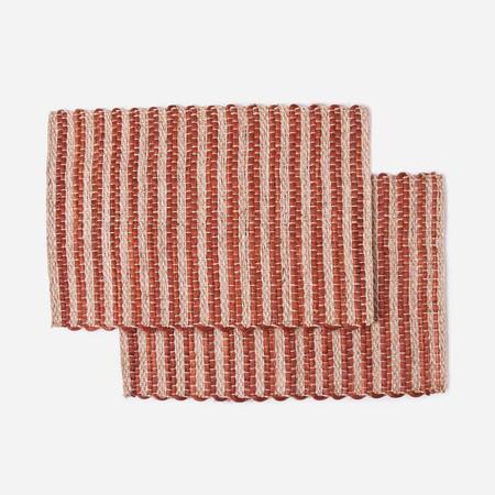 Someware Fique Woven Stripe Placemats, Set of 6