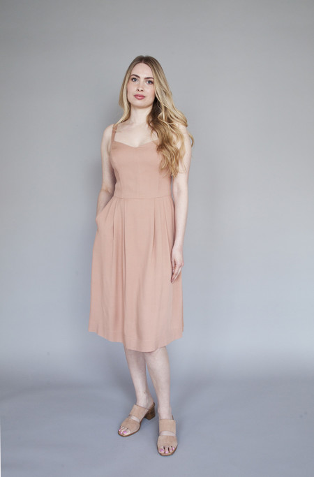 Birds of North America Plumeleteer Dress Blush