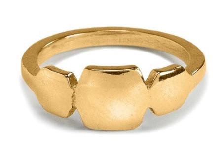 Isobel and Ezra Ula Ring Yellow Bronze