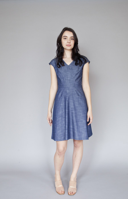 Jennifer Glasgow Occur Dress Blue Denim