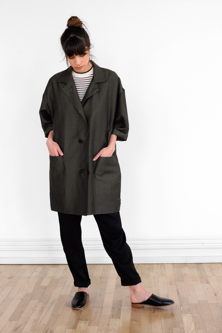 Waltz Studio Oversized Jacket in Deep Olive