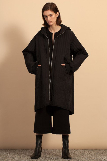 Nomia Quilted Parka - Black