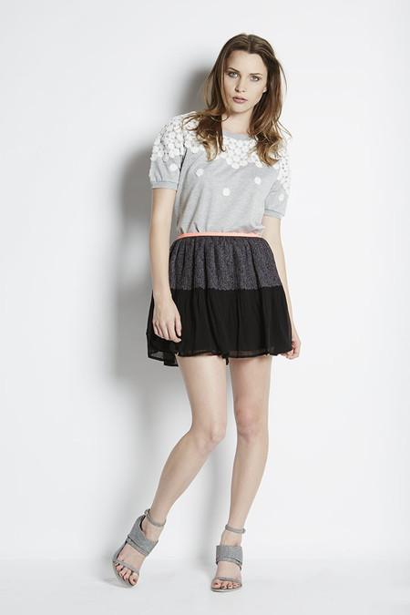 See U Soon Printed Ruffle Skirt