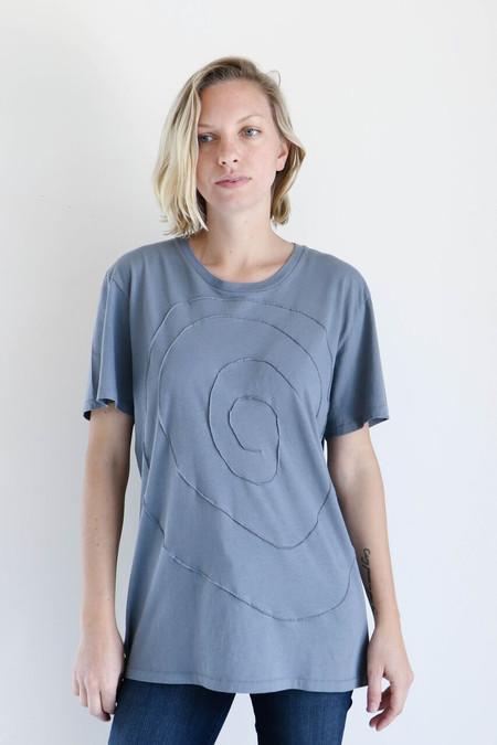 Unisex Correll Correll Spiral T-Shirt in Ocean