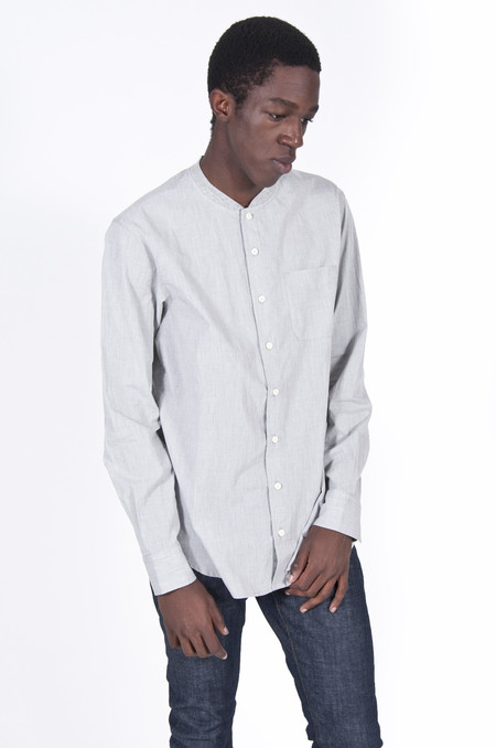 Wings + Horns Long Sleeve Service Shirt Grey