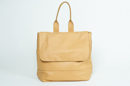 Clyde Room Backpack in Apricot Leather