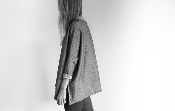 Side Split Long Sleeve - Grey