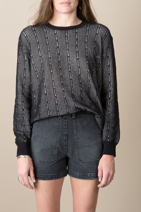 Rachel Comey Stem Sweater In Black/White