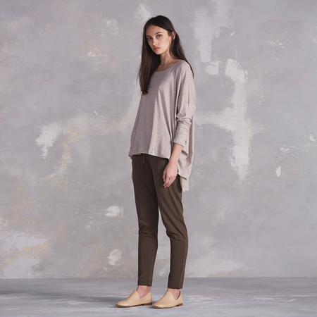 Kowtow Building Block Drape Back Top - oatmeal