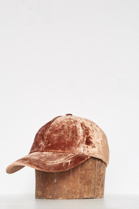 Unisex Colorant Velvet Cap - Copper