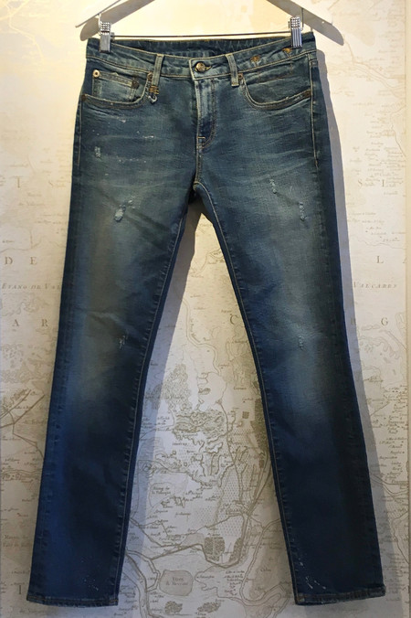 R13 'Kate' Skinny in Light Vintage Orion