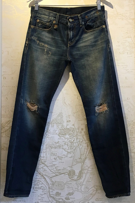 R13 Relaxed Skinny in Vintage Shredded
