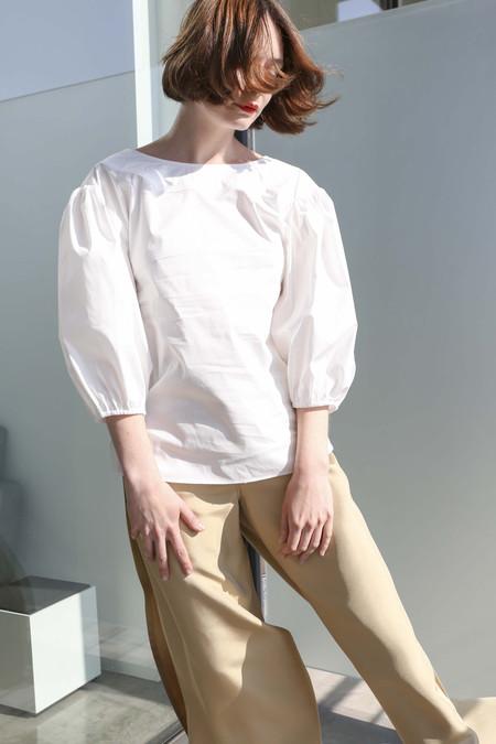 Maryam Nassir Zadeh Cabra Blouse in White