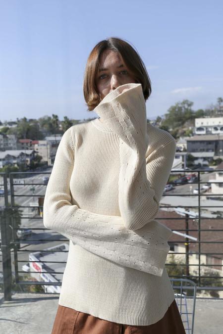 Pari Desai Liana Flare Sleeve Sweater in Vanilla