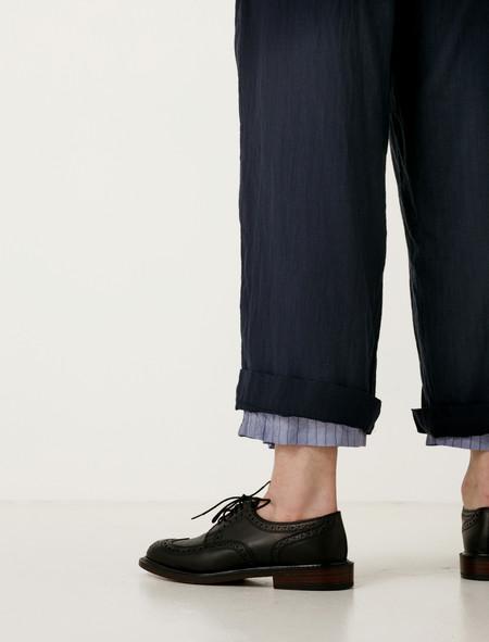 Ys by Yohji Yamamoto Cotton Chiffon Straight Pants