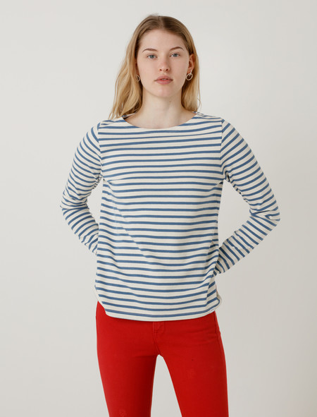 Norse Projects Inge Classic Stripe Coronet Blue