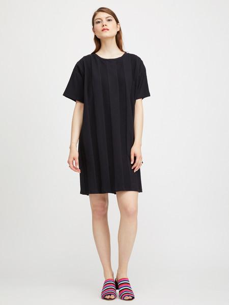 Revisited TEXTURED DRESS - BLACK