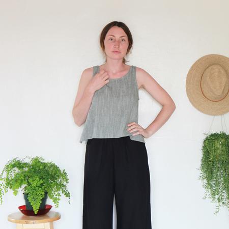 Me & Arrow Basic Short Tank - Olive Cotton